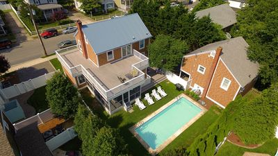 Aerial of House and Pool