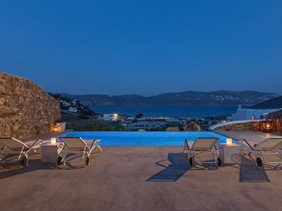 Photo for 2 Bedroom Villa with private pool, Panormos beach, Mykonos