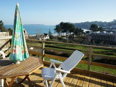 Photo for Perros Guirec, APARTMENT, SEA VIEW, 100M BEACH, TERRACE IN THE SUN, 2 to 4 people