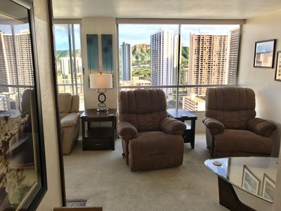 Photo for High-Floor Corner Unit in Waikiki with Air Conditioning / Parking