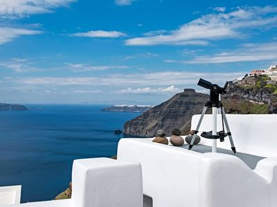 Photo for Luxury Villa Couleurs SANTORINI, 3 bedrooms, rooms, caldera view with jacuzzi !