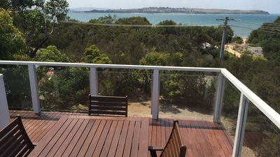 Photo for BEACHFRONT Bliss- Great water views from 2 decks!