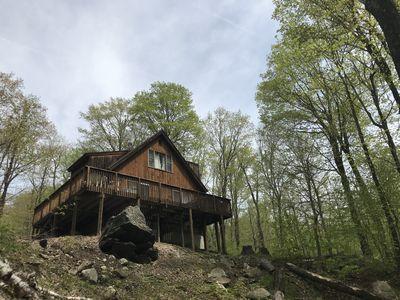Photo for Top of Chimney Hill Home with Great Views and Hot Tub- 4 miles to Mt Snow