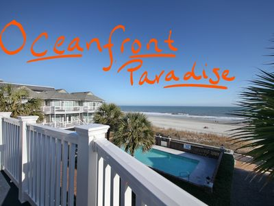 Photo for 20% off 8/1-8/8!! OCEANFRONT Townhome Steps Away From the Beach!