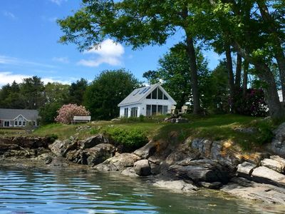A view from the dock at the Homeport Cottage.
