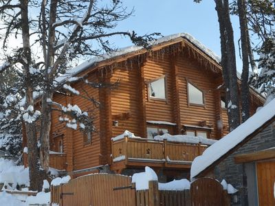 Photo for Finnish chalet on south balcony side, quiet area, 400 m away from downtown