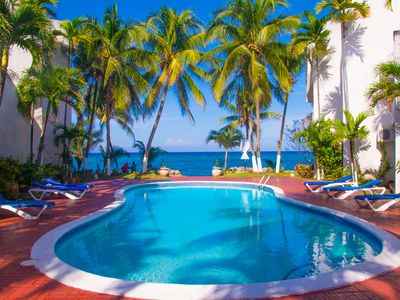 Photo for Paradise Suite apt 9  Ocean Views/ Free Wi Fi/ Steps to the Ocean.