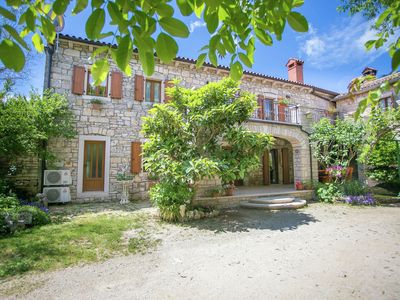 Photo for Beautiful and spacious stone house with private terrace,  near town Tinjan