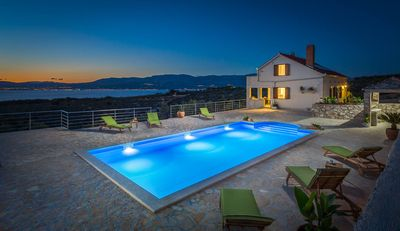 Photo for Villa Fani, Brand New Style Villa With A Large Pool And Spectacular Sea View