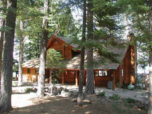 Lake Almanor West Lakefront Log Cabin Home The Lake Is