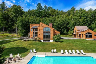 An incredible estate with seven bedrooms, pool, hot tub, game room, and more!