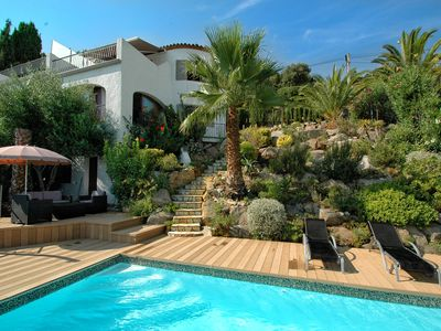 Photo for Peaceful family villa with private pool & magnificent views, nr. perfect beaches