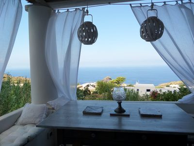 Photo for Casa Capperina - Charming panoramic house in the bay of Pollara