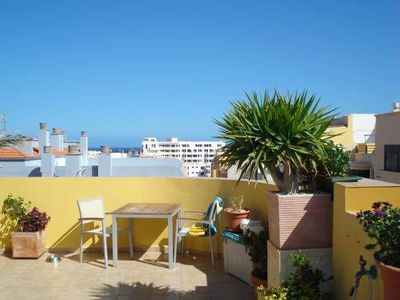 Photo for Apartment Vida Loca only 2 min. to beach, roof-terrace with sea view,Wifi,SAT-TV