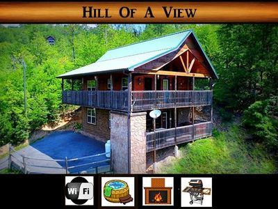 Photo for NEW LISTING - Hill of a View } Hot tub / Private / Awesome Mtn Views