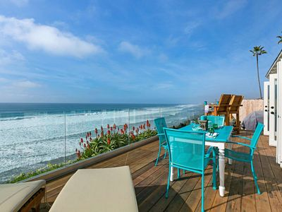 Photo for Cliffside Cottage - 3 blocks from Food, Shopping, and Moonlight Beach