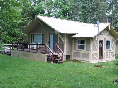 Photo for Newly renovated, dog-friendly chalet w/ a furnished deck & amazing yard