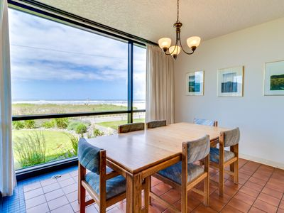 Photo for 1st floor oceanfront escape w/shared pool, steps from beach! Family Friendly!