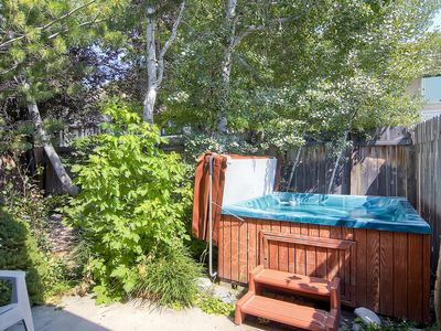 Photo for Private hot tub, wood-burning fireplace, & ski shuttle access for 12!