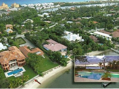 Photo for Waterfront Tuscan Mansion with Private Beach & Dock