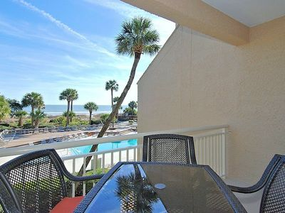 Photo for This second floor, 3 bedroom 3 bathroom end unit in Captains Walk located in Palmetto Dunes overlook