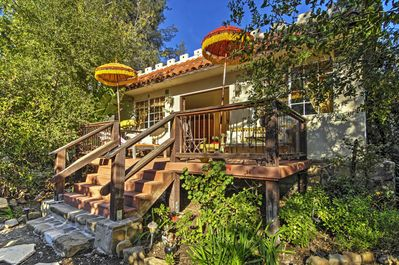Let this eclectic, colorful casita serve as the perfect adventure home base.