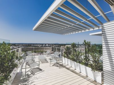 "Photo for NEW : ""L'ARBRE BLANC"" APARTMENT WITH DOMINENT VIEWS OVER MONTPELLIER AND THE SEA"