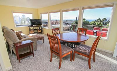 Photo for Updated Depoe Bay Charmer has Wood Fire, Oceanview, Hot Tub & Allows Pets!