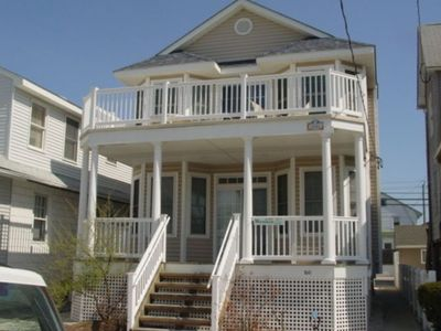 Front of Condo-Oceanside of Asbury Ave-Ocean City, New Jersey (2nd floor rental)