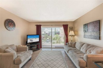 TV Time - Gather the group for a bowl of popcorn while you watch a favorite show on the large flat-screen TV. The couches are so comfortable you may never want to move.