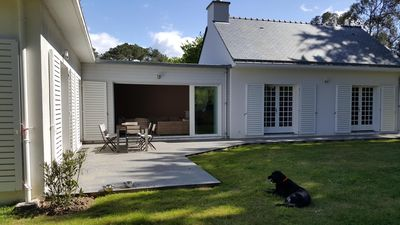Photo for South, sheltered from the wind, 100m from the beach, beautiful family house (12pers)
