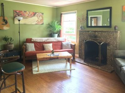 Photo for Dog-friendly  home w/yard & fireplace - walk to restaurants, bars, parks & more!