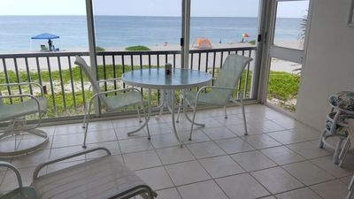 Photo for Beautiful condo on the beach with free boat dock, on lagoon side. great views ..