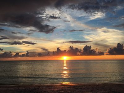 Photo for Beachfront Condo with Sunset Views!
