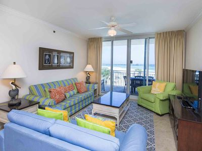 Photo for Beachfront Condo at Waterscape ~ Multiple Community Pools, Lazy River & More!