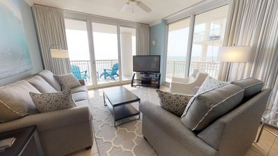 Photo for Amazing Gulf Front View-Spacious Corner Condo-Clubhouse Amenities!
