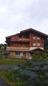 Photo for 2 rooms 30 m² chalet in ground floor with terrace and private parking. Mont Blanc View