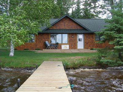 Lake view of cabin