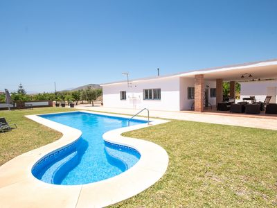 Photo for Cubo's Villa Miraflores. Large pool and garden with BBC, AC and wifi