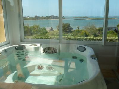 Photo for House with panoramic views of the entrance to the Aber Wrach with jacuzzi.