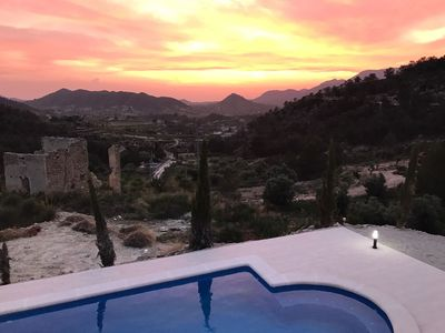 Photo for Stunning mountain top 5 bedroom Farmhouse, heated pool near Murcia, Costa Blanca