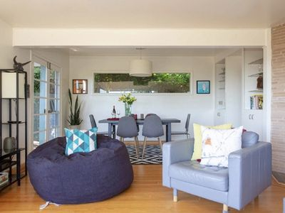 Photo for ★Lovely Mid-Century Modern Gem! ★BAY VIEWS★ HOT TUB★PARKING! ★PETS WELCOME!