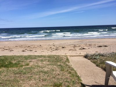Photo for Enjoy the best beach in New England.  Ocean, sand, and sun, just steps away from