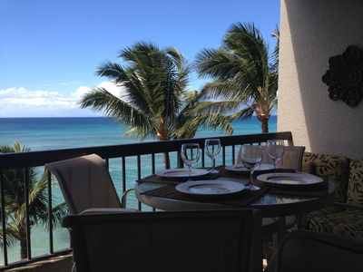 Dining from your private lanai
