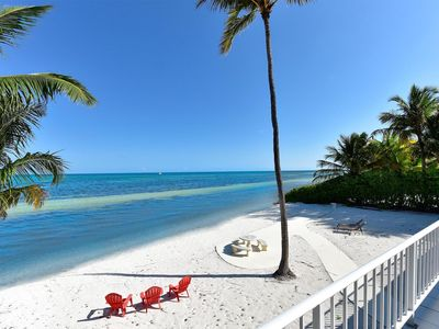 Photo for Private, 5 BR home on 100' white sand beach on Ocean in Islamorada, Florida Keys