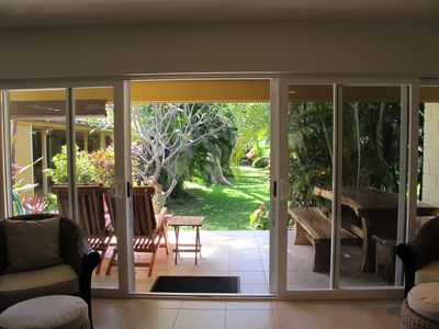 Photo for Beautiful remodel - private, clean and spacious! Close walk to beach and pools!
