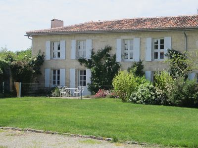 Photo for Luxury 18th C renovated stone house in the heart of rolling French countryside.