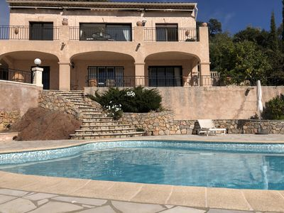 Photo for Summer rental villa with pool and lovely seaview