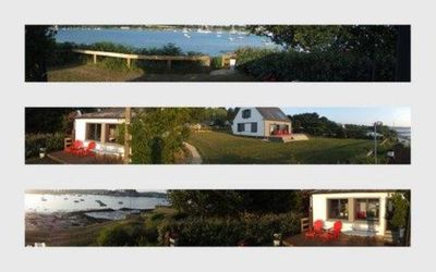 Photo for House panoramic view right on the sea and acces to golfe of morbihan