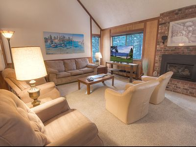 Photo for Pet Friendly Condo w/Fireplace Close to Beach and Skiing. Woodsy (IVC0822)